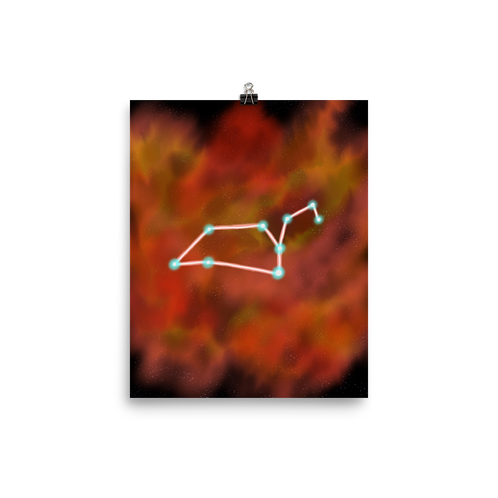Leo Constellation Print