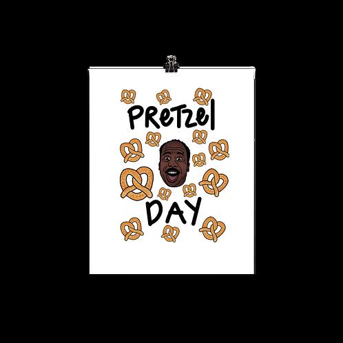 Pretzel Day Print