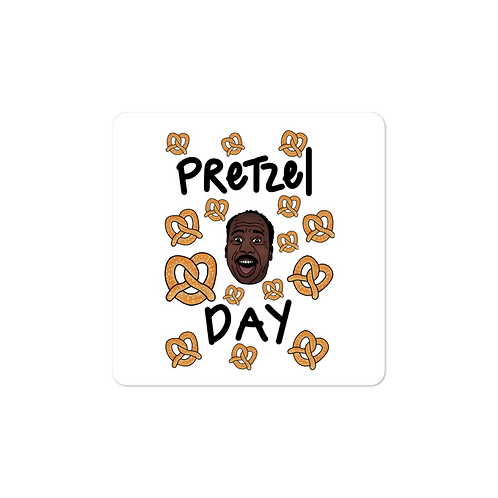 Pretzel Day Sticker