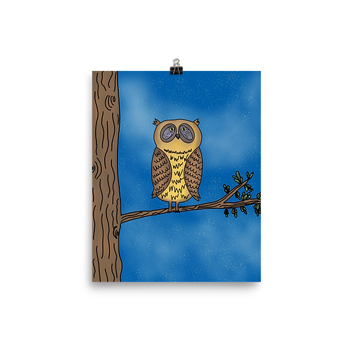 Albert the Owl Print