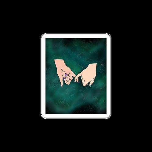 Promise Teal Nebula Sticker