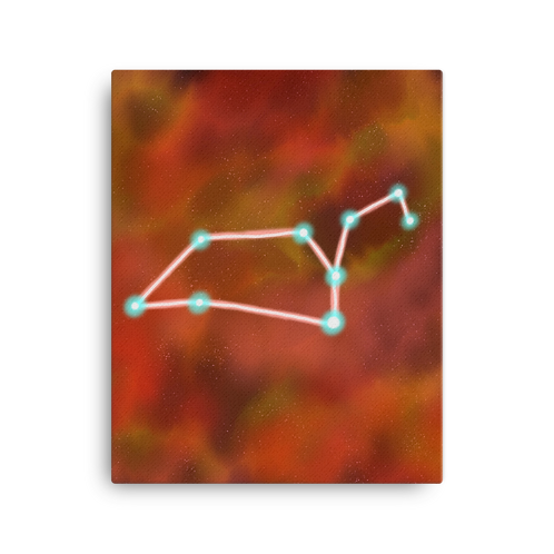 Libra Constellation Canvas