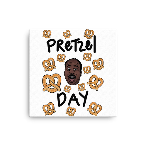 Pretzel Day Canvas