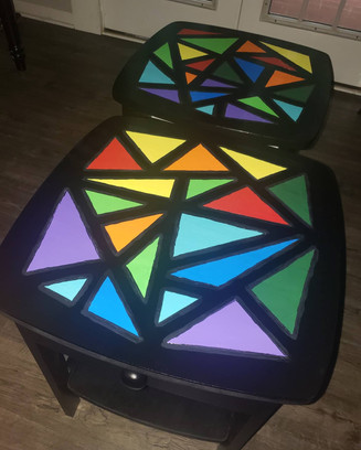 bedside tables in acrylic