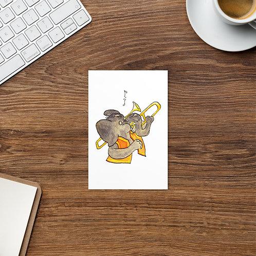 Trunkin' Trombone Postcard