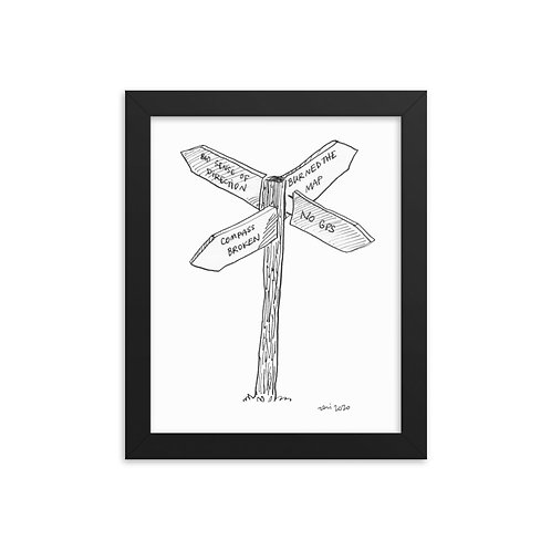 Where to next- Framed