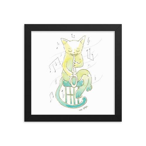 Cat Blues - Framed