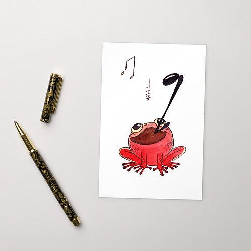 Frog Vocalist Postcard