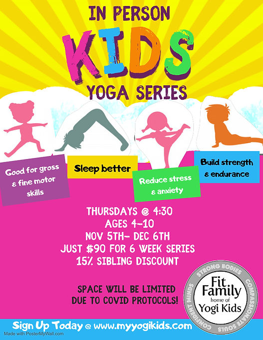 Kids yoga series - Made with PosterMyWal