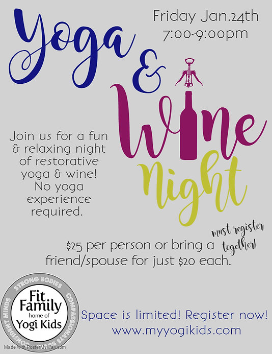 Yoga  Wine Night Jan 2020 - Made with Po