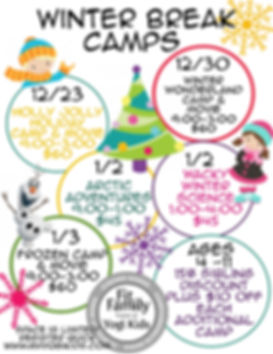 Winter Break Camps 2019-2020 - Made with