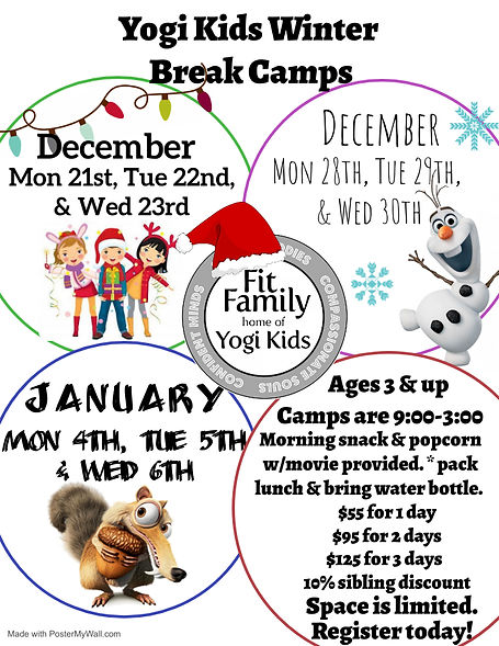 Holiday Break Camps - Made with PosterMy