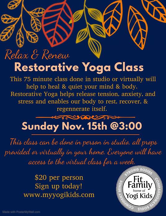 NovRestorative Yoga - Made with PosterMy