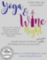 Yoga  Wine Night Sept - Made with Poster