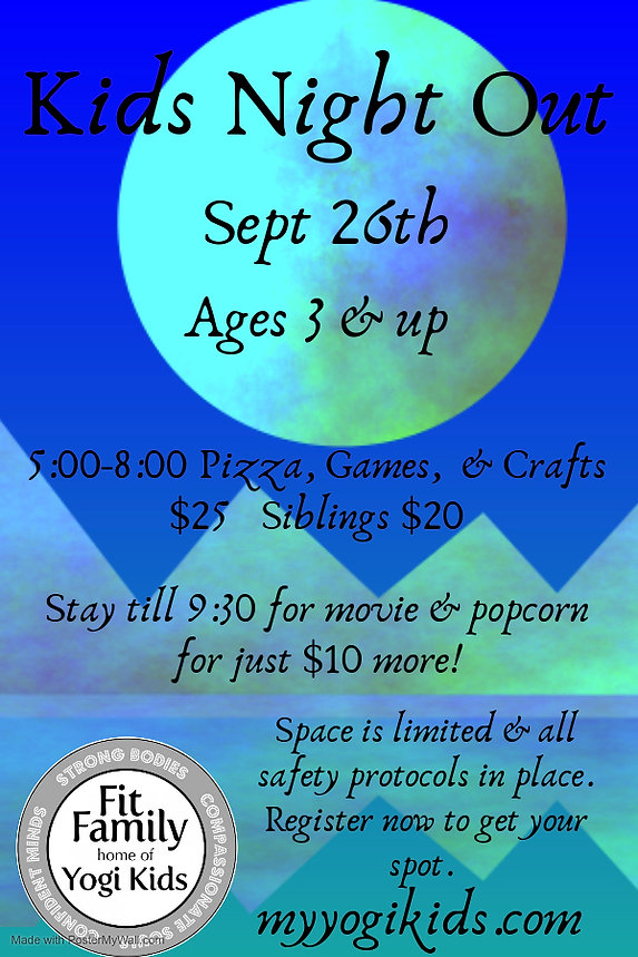 Kids Night 2020 - Made with PosterMyWall