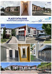 Place Catalogne - facades