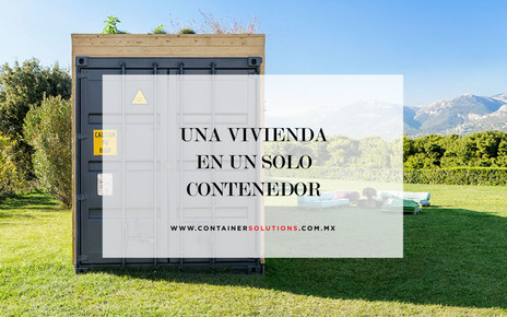 Una vivienda en un solo contenedor