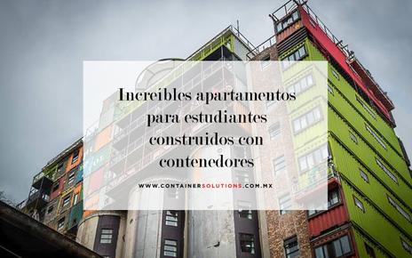 Increíbles apartamentos para estudiantes construidos con contenedores marítimos.