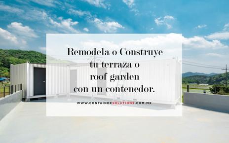 Remodela o construye tu terraza o roof garden con un contenedor