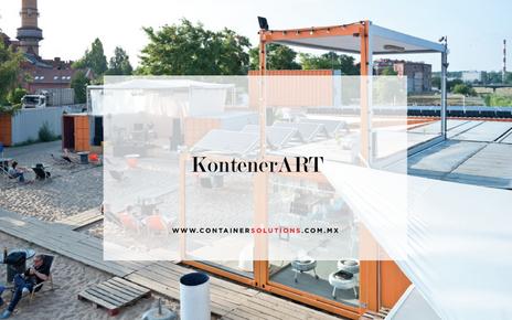 KontenerART y su estructura de contenedores marítimos.