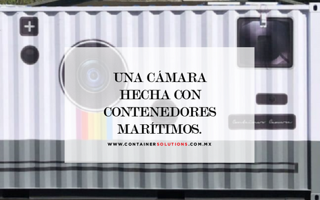Una cámara hecha con contenedores marítimos.