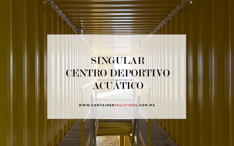 El primer centro deportivo acuático con contenedores marítimos.