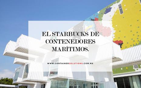El Starbucks de contenedores marítimos.