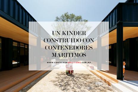 Un kinder sustentable y atractivo construido con contenedores marítimos