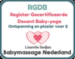 Logo RGDB - Baby-yoga Babymassage Nederl