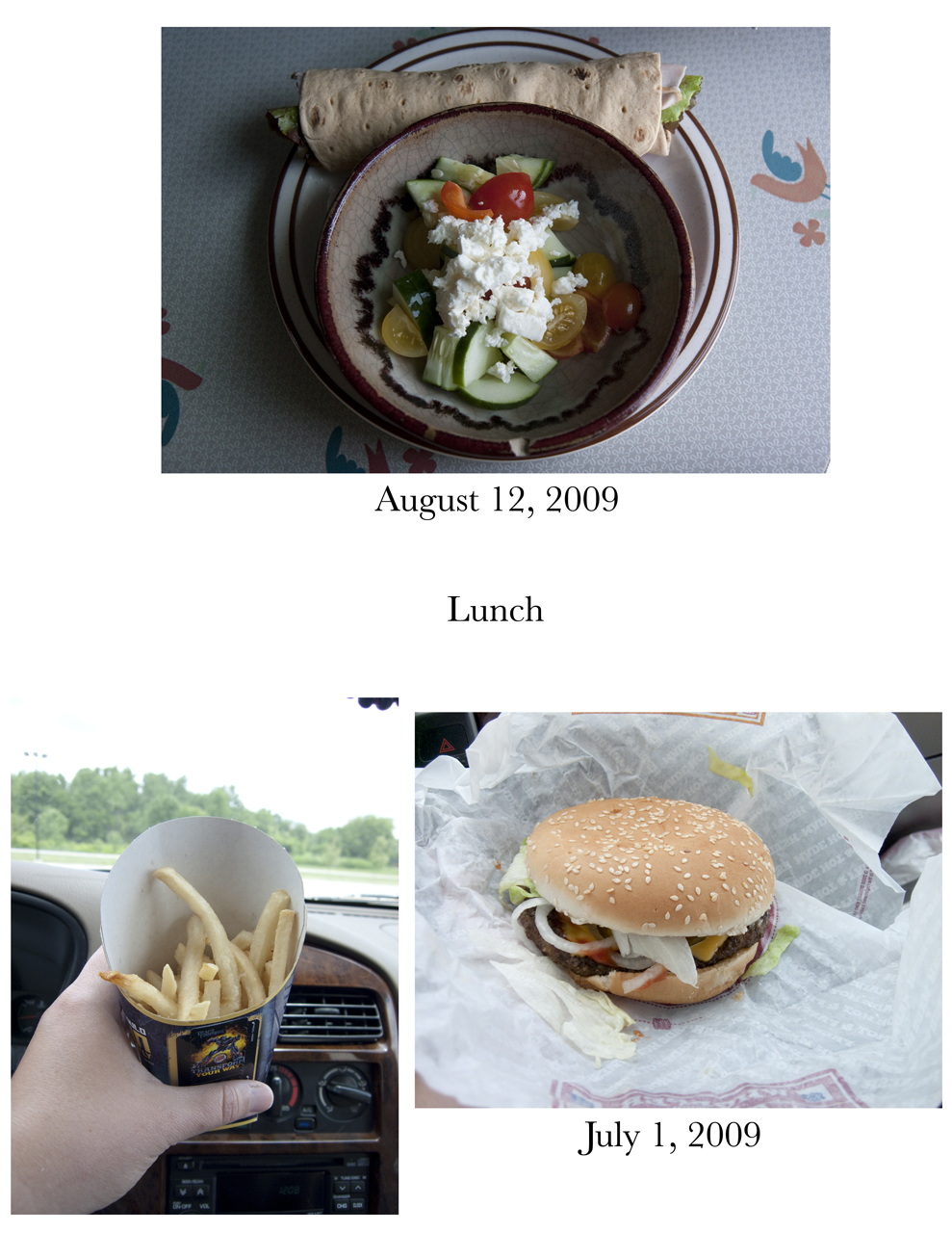 Lunch; Meal Comparison