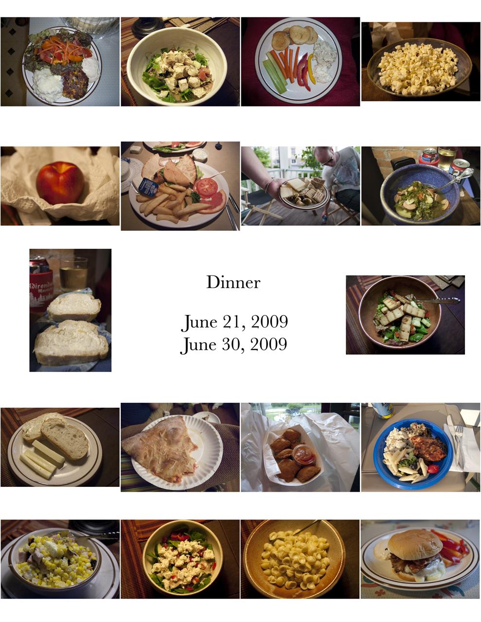 Dinners June 2009