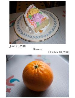 Desserts; Meal Comparison
