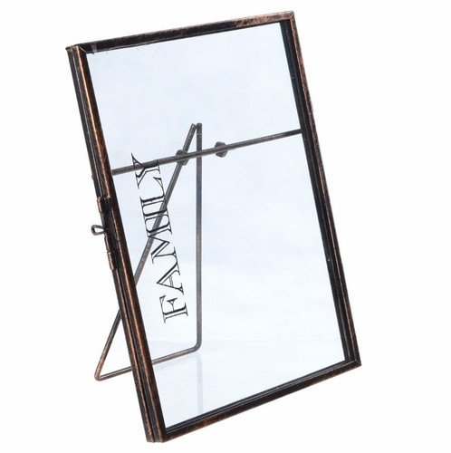 Vintage Metal Glass Standing Photo Picture Frame