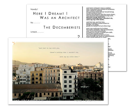 AD - 4x6 - Decemberists - Here I Dreamt.