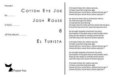 4x6 - Josh Rouse - Cotton Eye Joe(text).