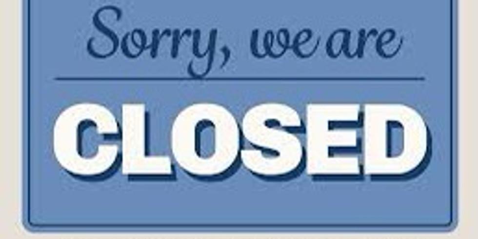 Closed Saturday Sept 4