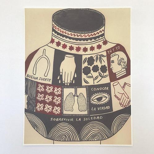 """Liz Hernández Print """"Sobrevivir la soledad"""""""
