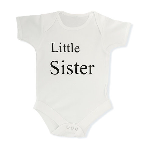 Little Sister baby suit - White
