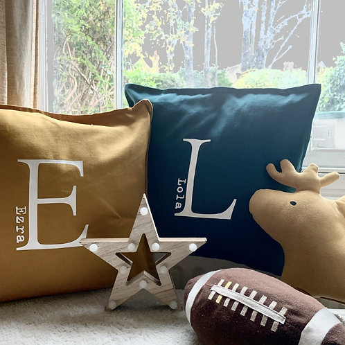 Personalised Large Letter Cushion Cover