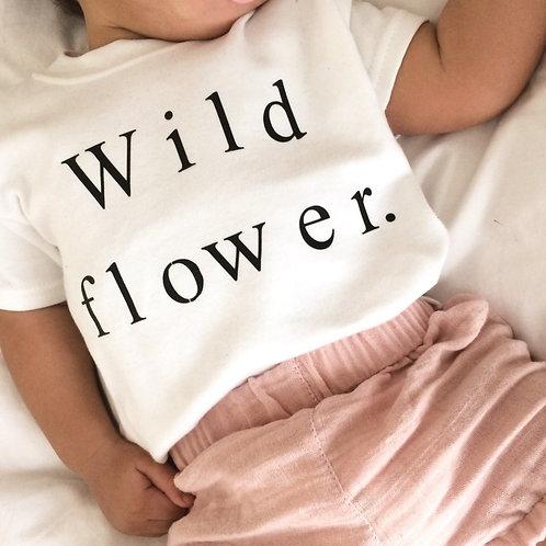 Wild Flower Slogan T-shirt