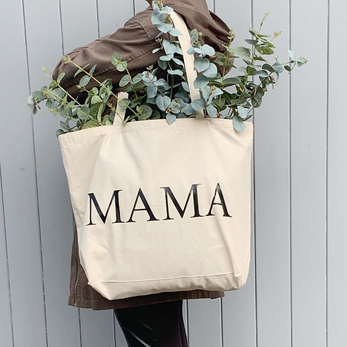 MAMA Large Shopper - Natural  Cotton