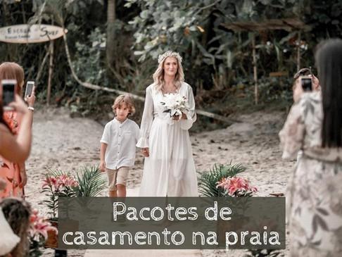 Pacotes de casamento na praia
