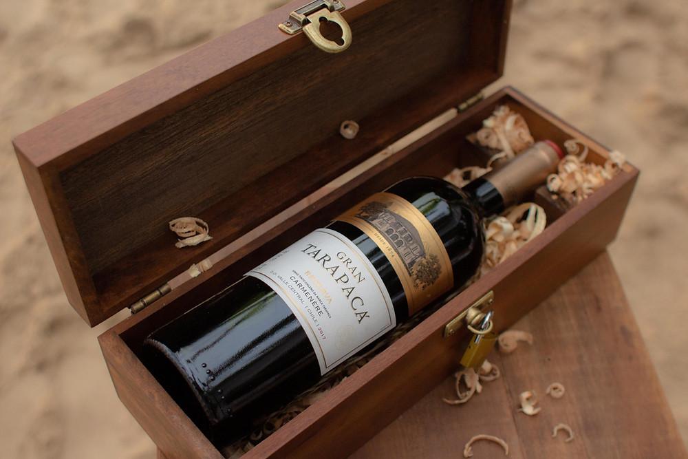 cerimonia caixa de vinho