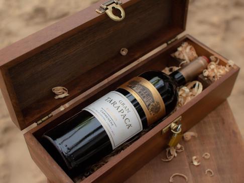 Bodas de casamento: caixa de vinho