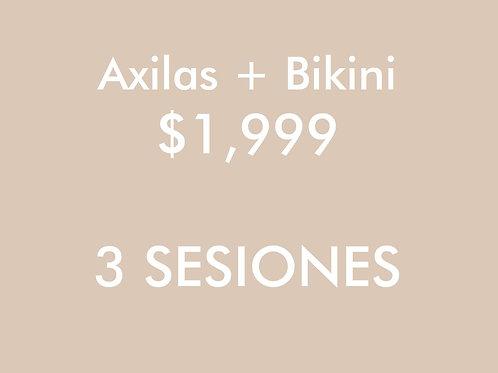 Axilas + Bikini (3 Sesiones)
