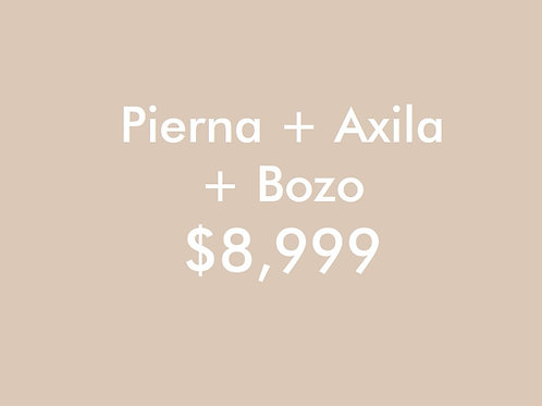 Pierna + Axila + Bozo (6 Sesiones)
