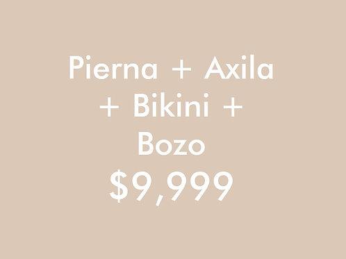 Pierna + Axila + Bikini + Bozo (6 Sesiones)
