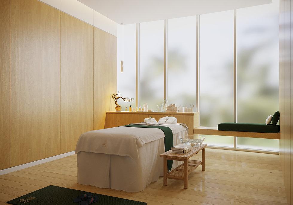 aria reserve miami massage room