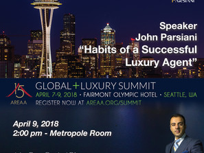 John spoke at the AREAA Global + Luxury Summit in Seattle