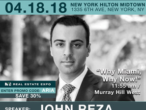 John Parsiani as a Speaker in NYC Real Estate Expo